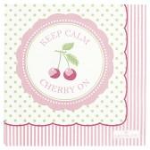 Greengate Pappersservett kaffe, Cherry berry pale green
