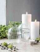Maja, Glasägg med silverdekor, litet
