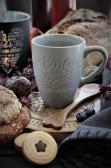 Maja, Kaffemugg Kärlek & Fika, grå