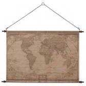 Världskarta i canvas, Globetrotter