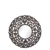 Carve Tempeltavla med spegel, svart (dia 60 cm)