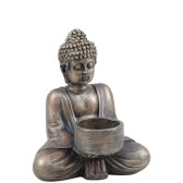 ..Miljögården, ljusstake Buddha