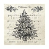 Ambiente Servetter - Christmas tree Black