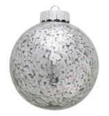 GreenGate Julgranskula Flora sparkling silver