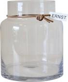 ERNST Glasvas, rak H18cm