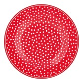 GreenGate Liten assiett, Dot red
