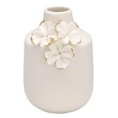 GreenGate Vas (liten), Vita blommor med guld