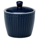 GreenGate Sockerskål Alice Dark Blue