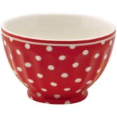 Greengate French Bowl Spot Red S