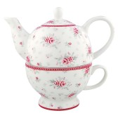 GreenGate Tea for one, Flora white
