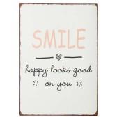 IB Laursen Metall skylt Smile happy looks...