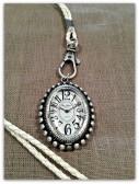 Vintage smycke ur i flätat läderband