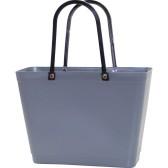 ...Perstorps väska, Sweden Bag med långa läderhandtag, Liten - Grå