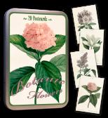 Vykort Vintage i plåtask, Botanic Flowers (Sköna Ting)
