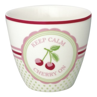 GreenGate Lattemugg Cherry mega white