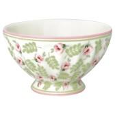 Greengate French Bowl Medium, Lily Petit White