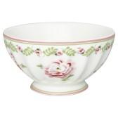 Greengate French Bowl XL, Lily Petit White