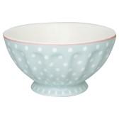 Greengate French Bowl XL, Spot Pale Blue
