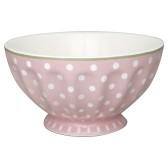 Greengate French Bowl XL, Spot Pale Pink