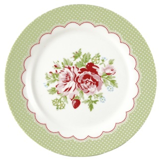 ...GreenGate Assiett Mary white
