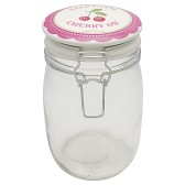 Greengate Förvaringsburk I Glas, Cherry Pale Pink 1L (Förbeställning)