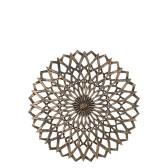 Carve Tempeltavla rund, svart/guld (dia 60 cm)