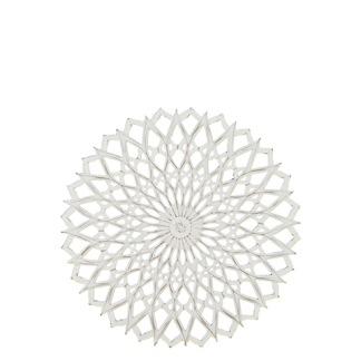 Carve Tempeltavla rund, vit/guld (dia 60 cm)