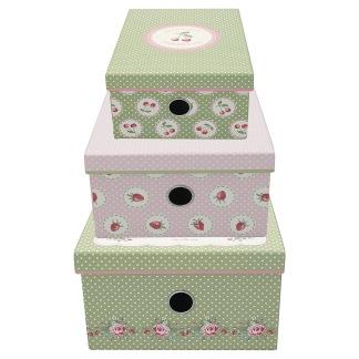 ..GreenGate Förvaringsbox Fyrkantig, Mary White, 3 storlekar (förhandsbeställning)