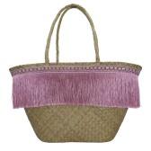 GreenGate Flätad Väska, Fringe Pale Pink