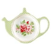 Greengate tehållare/tefat, Mary white (tea bag holder)