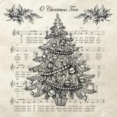 Ambiente Servetter - Christmas tree Black