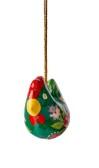 ..Höna att hänga,  papier maché (Nora), mörkgrön