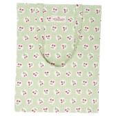 GreenGate Shopping kasse/tygkasse,  Cherry Berry pale green