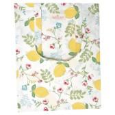 GreenGate Shopping kasse/tygkasse,  Limona White