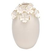 GreenGate Vas (stor), Vita blommor med guld