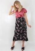 Lilja skirt Black/rose/Salva