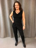 .Mix by Heart - Jumpsuit, svart med waterfall