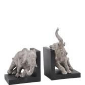 Bokstöd med elefanter (grå/svart), Miljögården