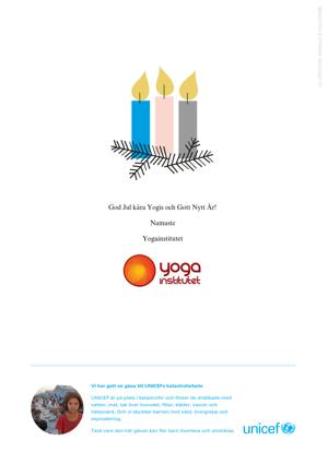 Yogainstitutet i Halmstad, Yoga, Halmstad, Unicef, God Jul & Gott Nytt År