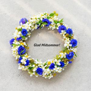Glad Midsommar önska Yogainstitutet i Halmstad, yoga i Halmstad, Hotyoga i Halmstad