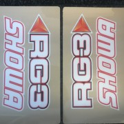 RG3 SHOWA Fork Sticker Kit Transparent