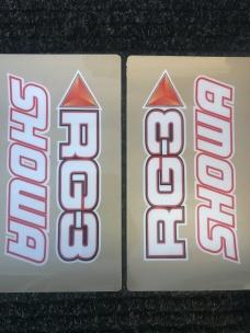 RG3 SHOWA Fork Sticker Kit Transparent
