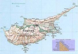 Karta över Cypern