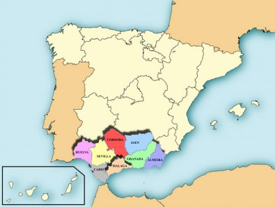 Andalusiens provinser