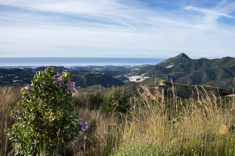 View from the road up to Ronda down towards the coast. In the horizonthe Atlas Mountains in North Africa is visible
