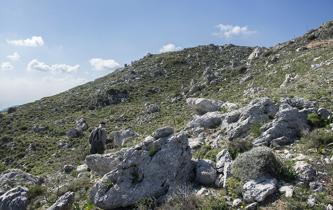 Stenig men innehållsrik terräng på Kretas sydsida