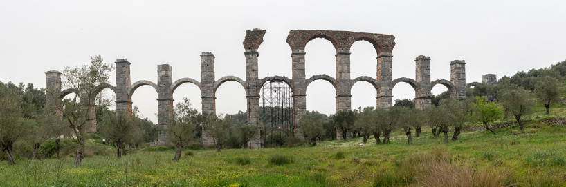 Den romerska akvadukten vid Moria