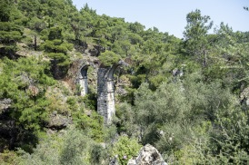 Den romerska akvedukten vid lambou Mili