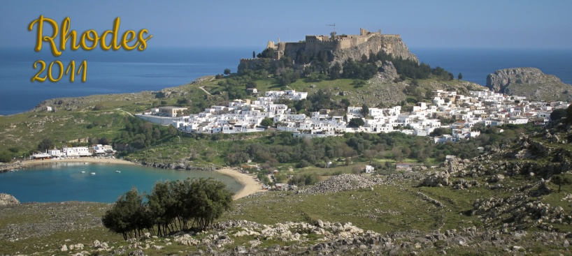 Lindos with its medieval fortress