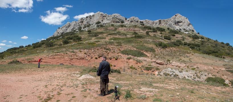 Vy från högsta punkten på vägen Ronda - El Burgo, 1163 m